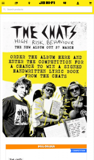 JB HiFi Purchase The Chats new album High Risk Behaviour to – Win a Signed Handwritten Lyric Book From The Band