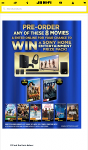 JB Hi-Fi – Win a Sony Home Fit-Out (prize valued at $6,085)