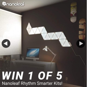 JB HiFi – Win 1 of 5 Let Us Know In 25 Words Or Less What Tunes You'd Be Playing to Chill Out Or Get In The Zone With The Nanoleaf Rhythm