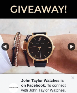 John Taylor Watches – Win X2 $100 Vouchers Towards a New Watch (prize valued at $200)