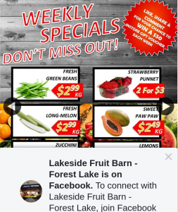 Lakeside Fruit Barn Forest Lake – Win $50 Gift Voucher to Spend In Store