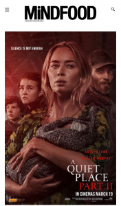 MindFood – Win 1 of 10 Double Passes to a Quiet Place Part Ii (prize valued at $40)
