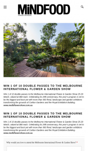 MindFood – Win 1 of 10 Double Passes to The Melbourne International Flower & Garden Show 25-29 March (prize valued at $60)