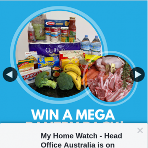 My Home Watch – Win a Mega Pantry Pack to Stock Up Supplies In These Busy Times and for Those Who Can't Get to The Store By Telling Us In The Comments Which Friend You Would Share Your Prize With
