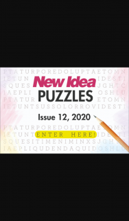 New Idea Puzzles 12 closes 5pm – Competition (prize valued at $1,000)