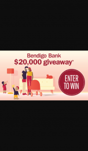 Nova – Win a Share of $20k to Put Towards Your Next Or Existing Home Loan Thanks to Bendigo Bank (prize valued at $20,000)