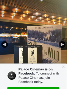 Palace Cinemas – Win Call of The Wild Book & Double Pass