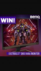 PC CaseGear – Win a Benq Ex2780q 27in 144hz Qhd Gaming Monitor