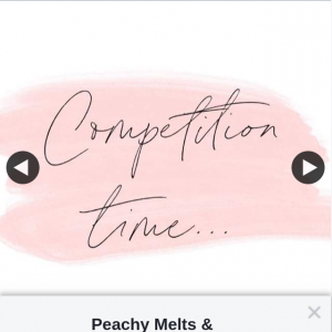 Peachy Melts & Creations – Win Cash Or Products Fb Like Share & Tag (prize valued at $80)