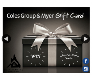 Quit Renting Queensland $150 Coles Myer voucher – Competition
