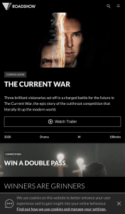 Roadshow – Win 1 of 20 Double Passes to The Current War