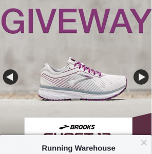 Running Warehouse – Win a Pair of Brooks Ghost 12 Shoes