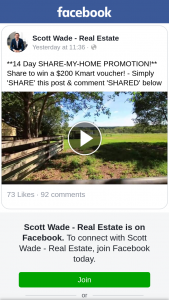 Scott Wade – Win a $200 Kmart Voucher (prize valued at $200)