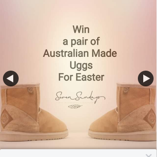 Seven Sundays – Win Ugg Boots (prize valued at $160)