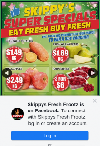 Skippys Fresh Frootz – Win a $50 In-Store Gift Voucher this Week (prize valued at $50)