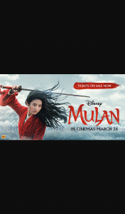 Student Edge – Win 1 of 25 Double Passes to See Disney's Mulan Promotion (prize valued at $1,050)