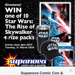 Supanova Comic-Con & Gaming – Win One of 10 Prize Packs
