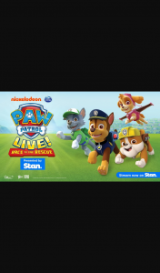 The Courier-Mail – Gold Coast Bulletin Plusrewards – Win a Family Pass to Paw Patrol Live (prize valued at $174.9)