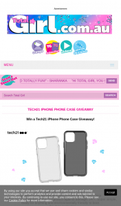 Total Girl – Win 1/10 Tech21 Iphone Phone Cases 5pm