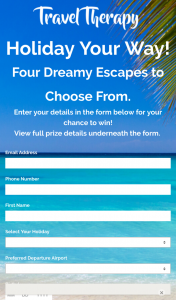 Travel Therapy – Win a Holiday Terms & Conditions (prize valued at $4,180)