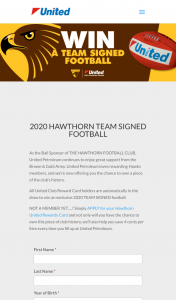 United Petroleum – Win an Exclusive 2020 Team Signed FooTBall (prize valued at $500)
