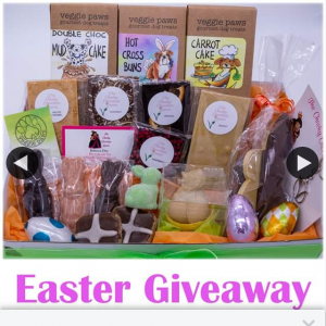 Veggie Paws – Win an Easter Gift Basket for The Whole Family (dog Included). (prize valued at $104.85)