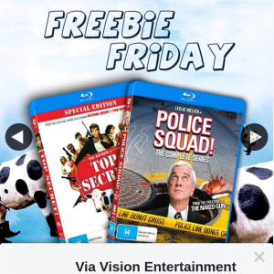Via Vision Entertainment – Win a Copy of Top Secret & Police Squad The Complete Series on Bluray
