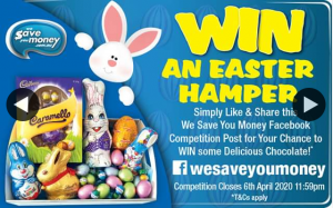 We Save You Money – Win an Easter Hamper
