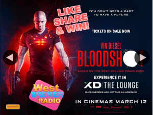 West Bremer Radio – Win Double Pass Bloodshot Limelight Cinemas pick Up Prize (prize valued at $30)