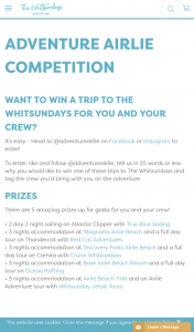 Whitsundays Tourism – Win a Trip to The Whitsundays for You and Your Crew