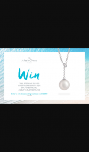 Willie Creek Pearls – Win a Sterling Silver South Sea Cultured Pearl Adjustable Necklace (prize valued at $990)