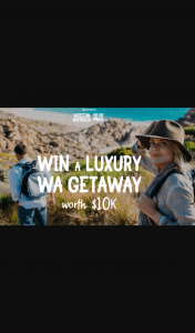 Win this Once-In-A-Lifetime Luxury Western Australian Getaway (prize valued at $10,000)