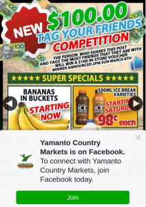Yamanto Country Markets – Win a $100 In-Store Voucher