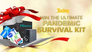 9Now – Win a pandemic survival kit including a Hisense 55″ Smart 4K TV and home theatre soundbar and many more