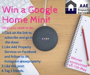 AAE Property Services – Win a a Google Home Mini for Mum