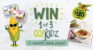 Australian Healthy Food Guide – Win 1 of 3 Go! Kidz One-month Meal Plans