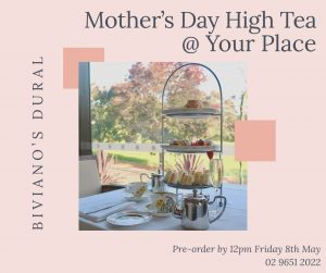 Biviano's Italian Restaurant, Dural – Win a Mother's Day high tea for 4