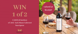 Houghton Wine Club – Win 1 of 2 cases of 2017 Jack Mann Cabernet Sauvignon