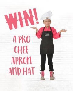 Melinda's Gluten-Free Goodies – Win 1 of 3 personalised professional chefs apron and hat sets PLUS a Baking Mix pack