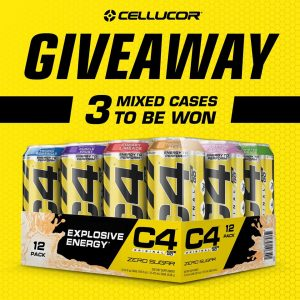 Nutrition Systems – Win 1 of 3 mixed cases of Cellucor C4 On The Go Carbonated Performance Drink