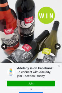 Adelady – Win Two Amazing Shut The Gate Wines Premium Wine Packs Shipped Straight to You and Your Bestie's Front Door