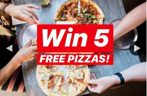 Alfredo's Pizza – Win 5 Free Pizza's