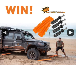 All 4 Adventure – Win Set of Maxtrax Mounting Pins  (prize valued at $344)