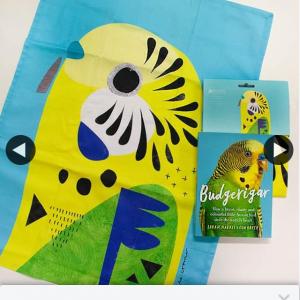 Allen & Unwin Books – Win 1/5 Copies of Budgerigar Tea Towel