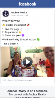 Anchor Realty – Win Easter Chocolates