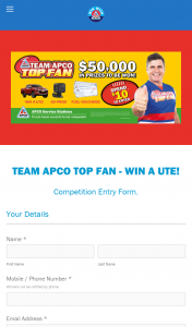 APCO Service Stations – Win Gift With Purchase Is Awarded at The Point of Sale to All Eligible Entrants (prize valued at $54,747)