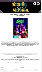 Aussie Comedy Kingdom – Win a Copy of The Will Ferrell Comedy a Night at The Roxbury on DVD