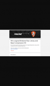 Base Compression – Win a Signed Brisbane Roar Jersey and Base Compression Kit