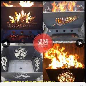 BEL's METAL ART – Win Fire Pit Any Picture Design & Tray (prize valued at $450)