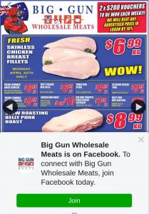 Big Gun Wholesale Meats Underwood – Win 1 of 2 X $200 Vouchers (prize valued at $400)